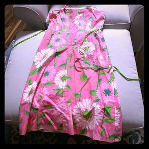 Lily Pulitzer pink strapless size 8 dress